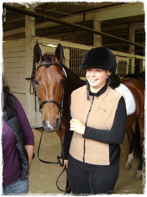 With my mare in 2007 at an ODS show at the Oregon State Fairgrounds.